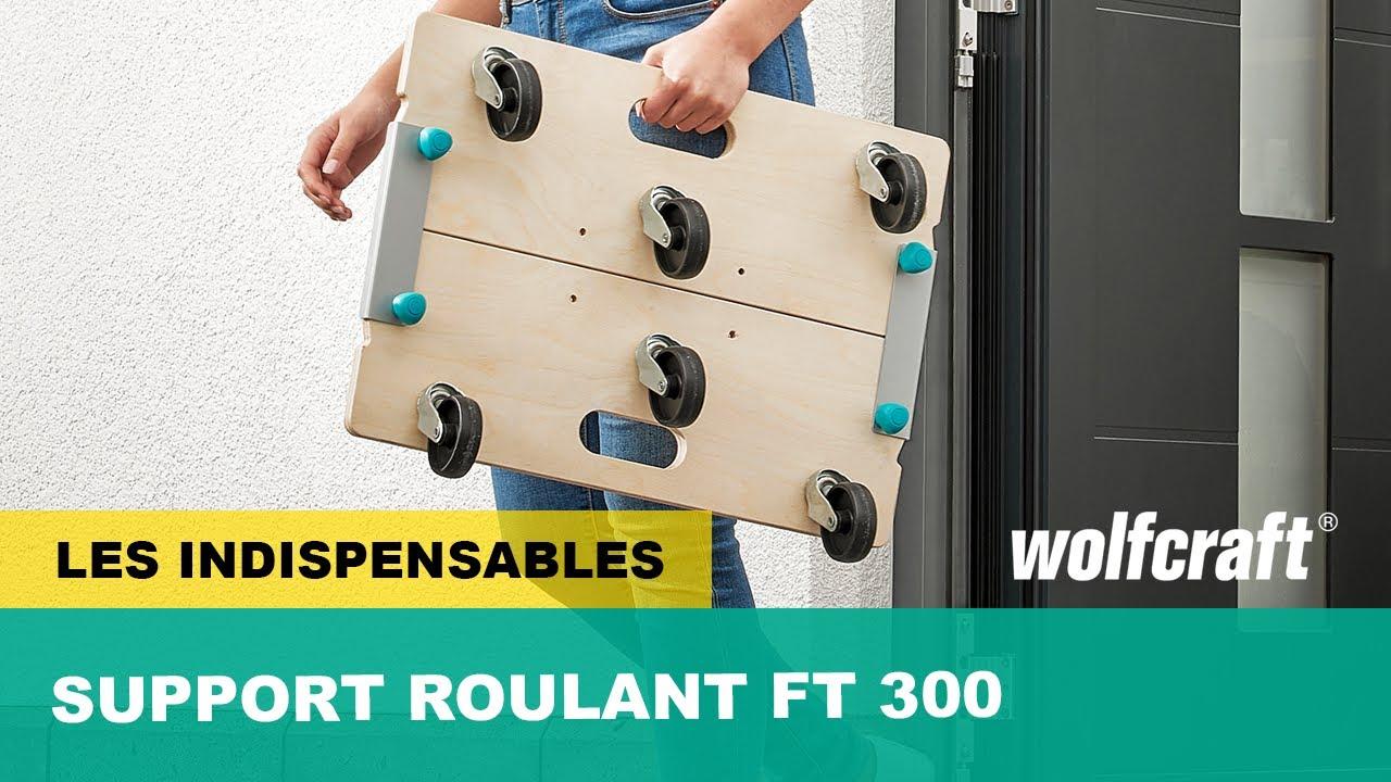 Un Support Roulant 3 En 1 Modulable Et Robuste Ft 300 Wolfcraft