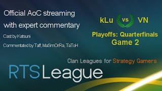 RTS League AoC S35, Quarterfinals: kLu vs. VN, Game 2
