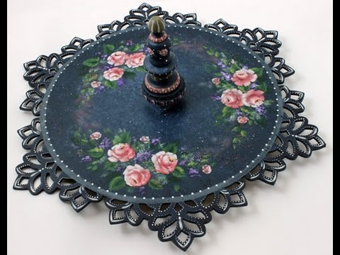 Tea Roses & Lace Tole and Decorative Painting by Patricia Rawlinson