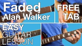 Faded | Alan Walker | EASY | Guitar Lesson | Tutorial | How to play