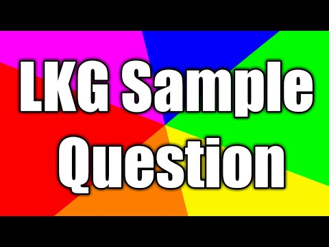 LKG Sample Question Paper