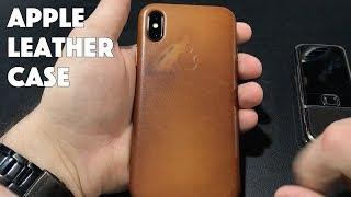 Как стареет оригинальный кожаный чехол Apple на iPhone X