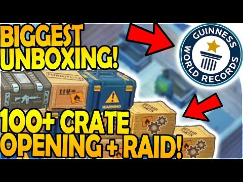 BIGGEST CRATE UNBOXING EVER - 100+ PACKS OPENING -RAID TIME- Last Day On Earth Survival 1.7.3 Update