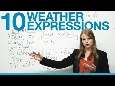 10 Weather Expressions in English