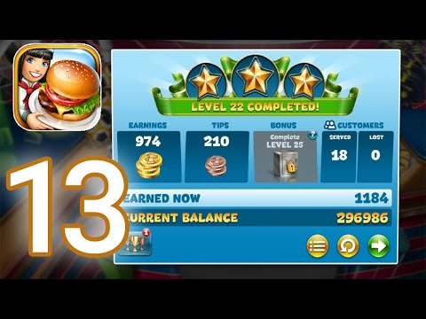 cooking-fever---gameplay-walkthrough-part-13---sports-bar-level-21---25-completed-(ios,-android)