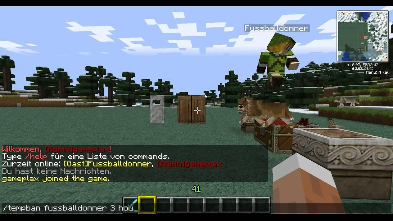 TempBan Bukkit Minecraft HDDeutsch YouTube - Minecraft server spieler entbannen