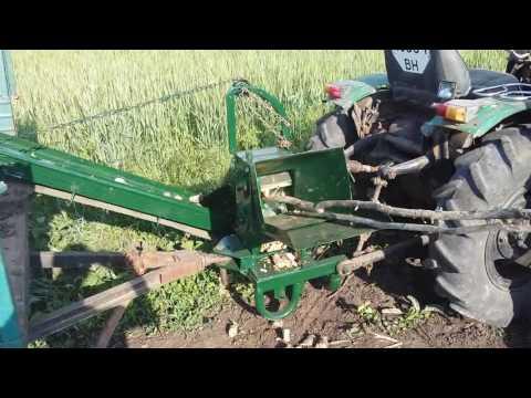 видео: измельчитель веток с транспортером