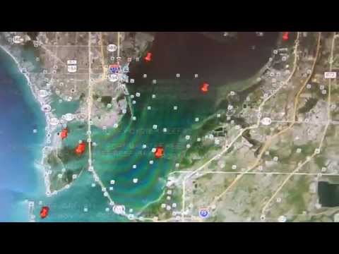 Google Earth Fishing - Tampa/St. Pete Reef Overview