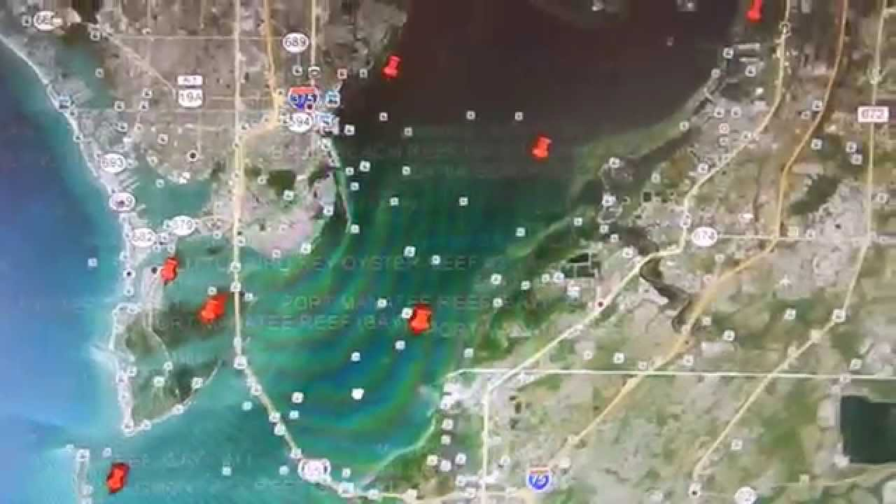 Florida Reefs And Wrecks Map.Google Earth Fishing Tampa St Pete Reef Overview Youtube