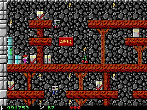 Apogee Crystal Caves I, Troubles With Twibbles, 1991. Level 2 Walkthrough