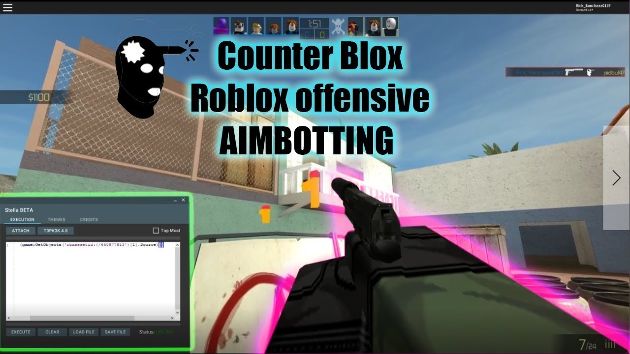 Roblox esp and aimbot!