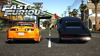 The Fast and the Furious (2001) - Brian Races Dominic Scene (GTA 5 Fast & Furious)
