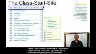 VLC Online-Class: Phonetics, Phonology & Transcription