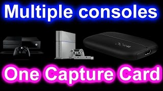 How to record multiple consoles with one capture card