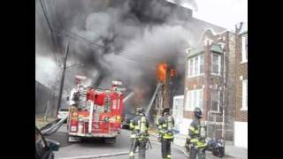 FDNY Bronx 5th alarm with radio coms