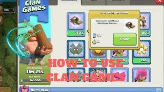 HOW TO USE CLAN GAMES FULL TUTORIAL / CLASH OF CLANS / CLAN ON