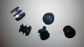 Пластиковая заглушка для профтрубы D 16 мм. Обзор.