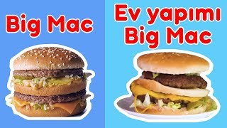 Ev Yapımı Big Mac VS. Restoran Big Mac