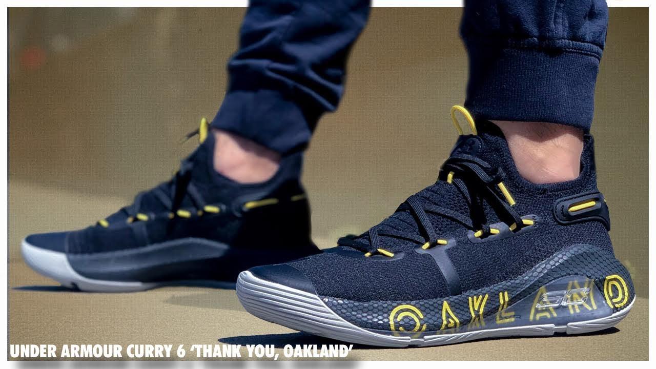 con las manos en la masa diario Lujo  Under Armour Curry 6 'Thank You, Oakland' - YouTube