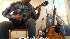 Classical Kids Guitar half size blue Best Beginners small 1/2 size Hasguitars