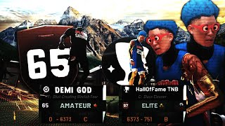 I Accidentally got carried by A 65 OVERALL DEMI GOD in NBA2K19!