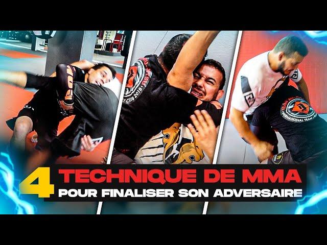 4 TECHNIQUES DE MMA POUR SOUMETTRE TON ADVERSAIRE