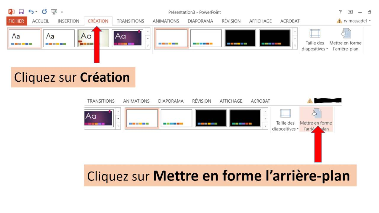 power point ins u00e9rer une image de fond aux diapositives