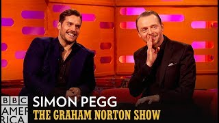 Simon Pegg and Tom Cruise Used Superman Against Henry Cavill - The Graham Norton Show
