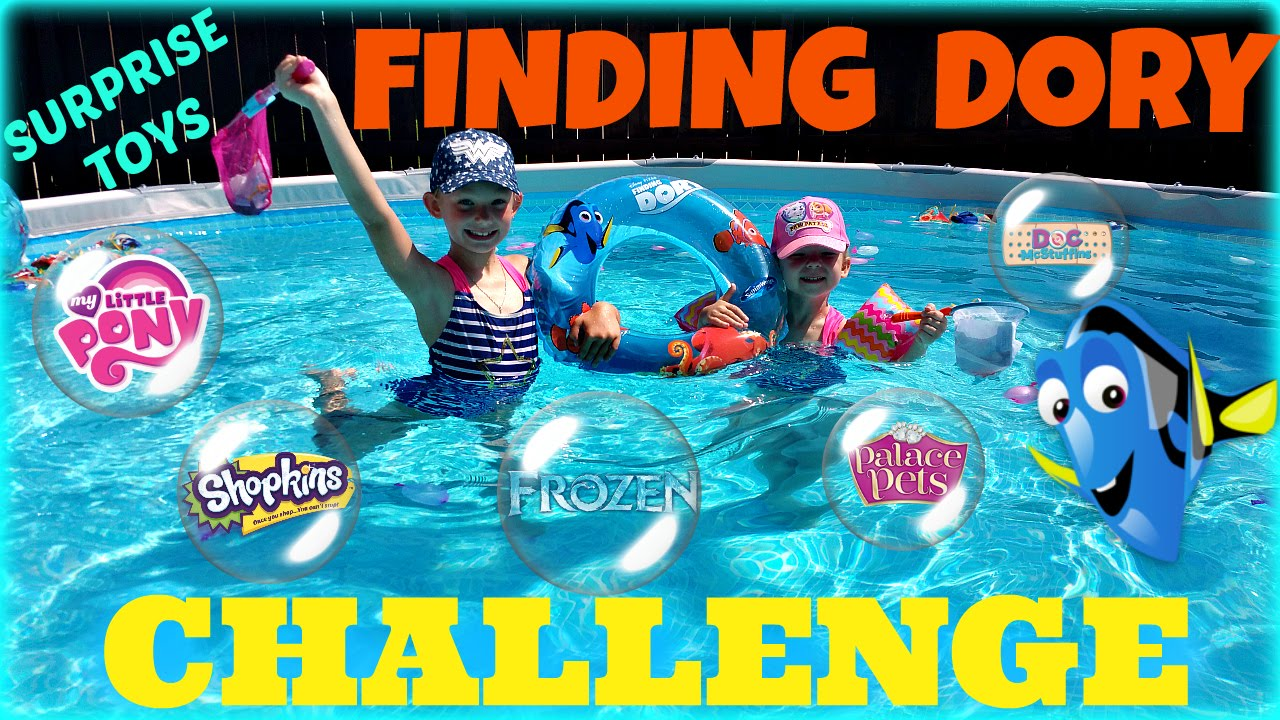 Biggest Pool Balloons Surprise Toys Hunt Finding Dory
