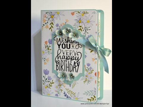 No.288 Book Box for A6 (A2) Greeting Cards -- JanB UK Stampin' Up! Demonstrator Independent