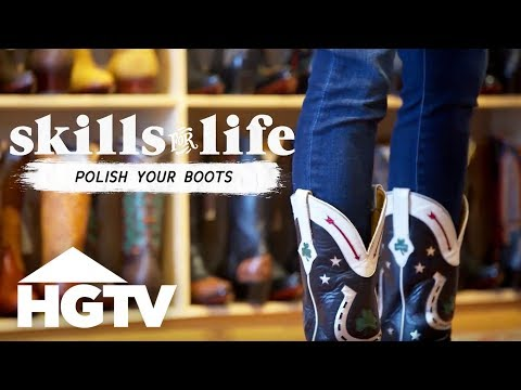 How to Clean and Polish Leather Boots - HGTV