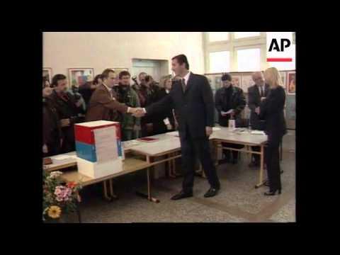 Montenegro - Milo Djukanovic votes in elections