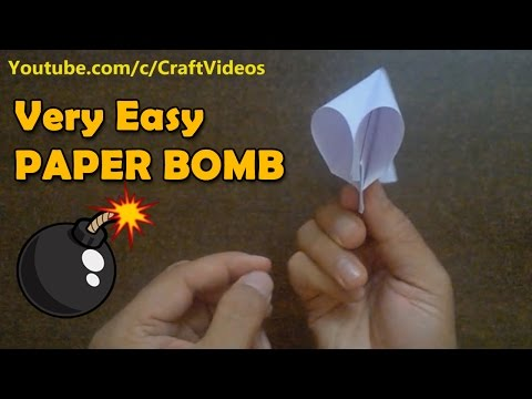 How to Make a Paper Popper | How to make Paper Bomb | Paper Bomb that Pops