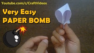 How to Make a Paper Popper   How to make Paper Bomb   Paper Bomb that Pops