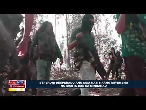 Esperon: Desperado ang mga natitirang miyembro ng Maute-ISIS sa Mindanao