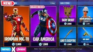 Fortnite X Avenger Endgame! New Avengers Skins (Ironman, Captain America, Hulk)