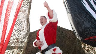 Santa Cena gives Mr. McMahon an Attitude Adjustment: Tribute to the Troops 2007