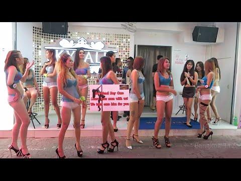 Walking girls street pattaya thailand