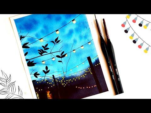 Watercolor Painting Tutorial | Easy Watercolor Landscape Tutorial | Watercolor Beginner Easy