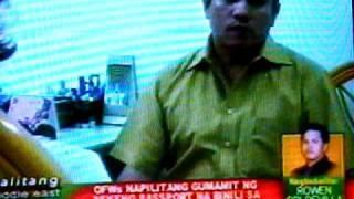 Balitang Middle East - Fake Phil. passport increasing