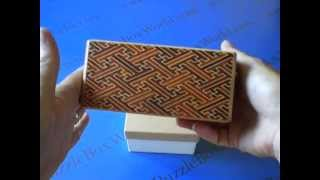 A 5 Sun 35 +1 Step Red Saya Japanese Puzzle Box