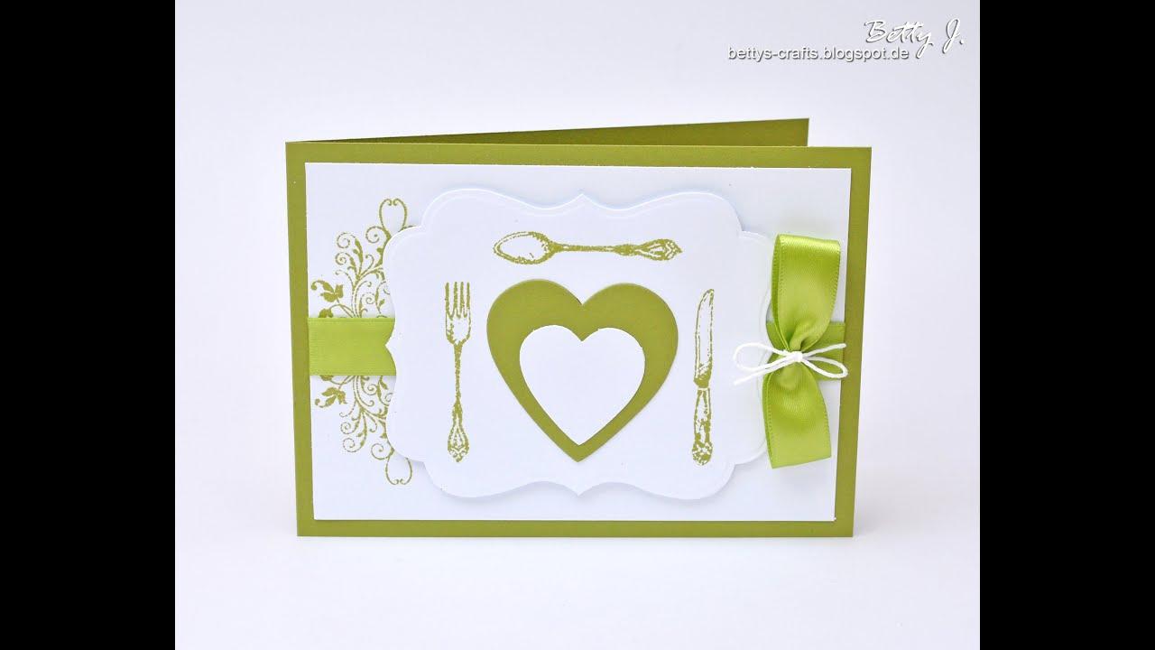 Hochzeitsserie   Gesucht Und Gefunden In Grün Weiß   Menükarte   YouTube