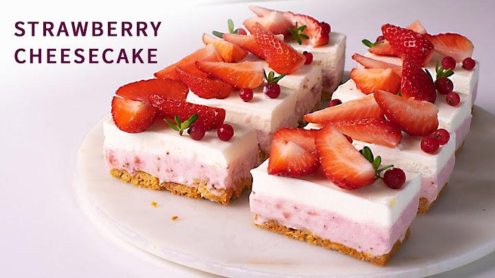 바삭한 스트로이젤 베이스 딸기치즈케이크 만들기 How To Make STRAWBERRY CHEESECAKE