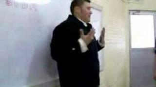 Oscar en San Valentin in Class with teacher Celia