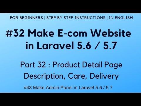 #32 Make E-commerce website in Laravel 5.6 | Product Detail Page - Description, Care, Delivery