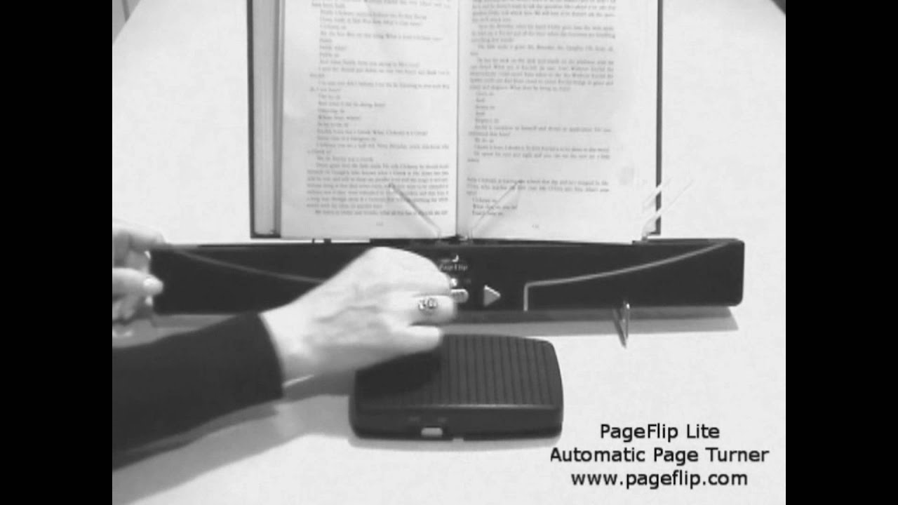 pageflip lite automatic page turner youtube