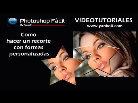 Como hacer un recorte con formas personalizadas Photoshop by yanko0
