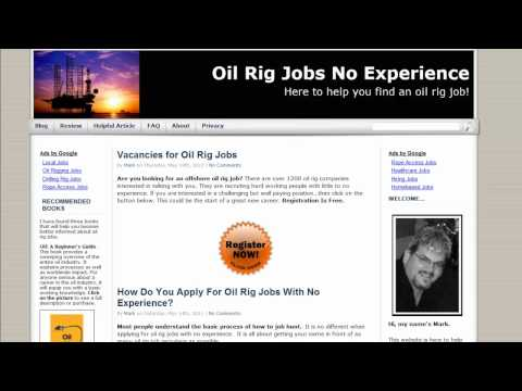 Oil Rig Jobs Website Introduction