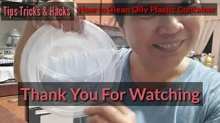 HOW TO CLEAN OILY CONTAINER/TIPS//Malyn Jaromay