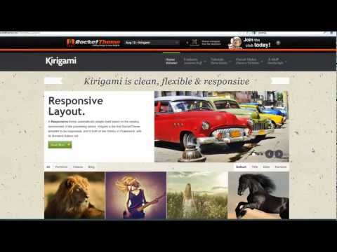 How To Customize The Joomla Kirigami Template From Rocket Theme